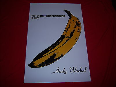 $18 • Buy Pop Art VELVET UNDERGROUND & NICO Poster - ANDY WARHOL BANANA Album Cover - NEW