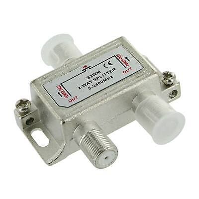 AU4.75 • Buy 2 Way TV F Type Splitter 5-2300MHz 12V DC 500mA
