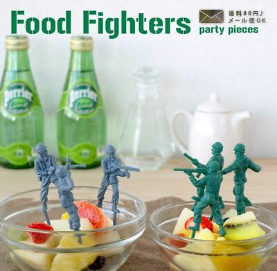 £4.75 • Buy Food Fighters Party Cake Toppers 12 Toy Army Soldiers Cocktail Stick Decorations