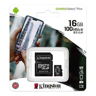 Kingston 80MB/s 16GB Micro SD SDHC UHS-I Class10 Memory Card + Adapter (USA) • 5.10$