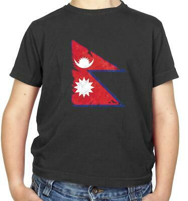 Nepal Flag Kids T-Shirt - Kathmandu - Nepalese - Flags - Country - Asia • 9.95£