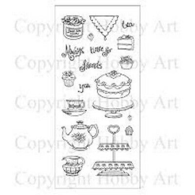£8.99 • Buy Hobby Art TIME FOR TEA Clear Stamp Set