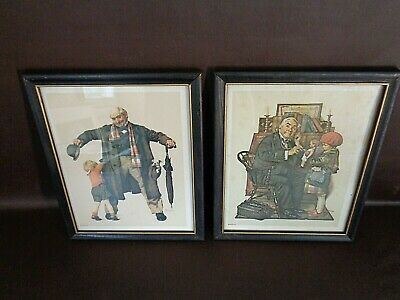 $ CDN41.55 • Buy Set Of Two Norman Rockwell Prints Matching Frames Vintage