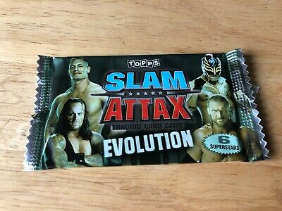 Sealed Packet Of Topps Slam Attax Evolution Trading Cards (6 Cards) 2009 WWE • 1.99£