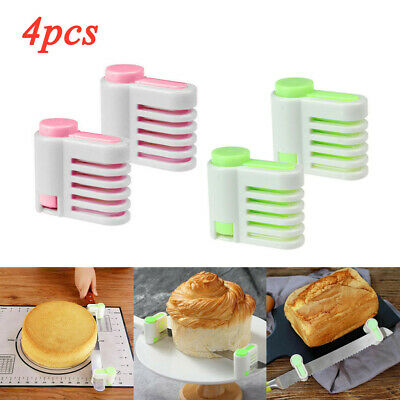 £3.59 • Buy 2/4 Pcs Even Cake Slicing Leveler Bread Cutter Durable Baking Kitchen Tools