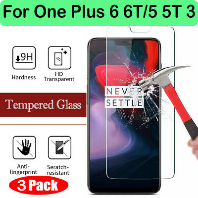 AU2.65 • Buy For One Plus 6 6T/5 5T 3 Screen Protector 9H Tempered Glass Film Protector Vy