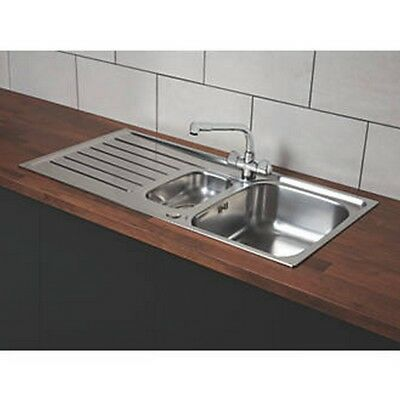 Franke Reno / Danube Stainless Steel Inset Sink & Mixer Tap 1.5 Bowl 1000 X 500m • 114.99£