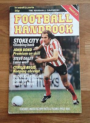 Marshall Cavendish Football Handbook Part 27 Stoke City Middlesbrough Wolves • 2.55£
