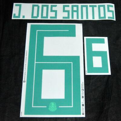 $17.50 • Buy Mexico J Dos Santos  World Cup 2018 Football Shirt Name/Number Set Sporting ID A