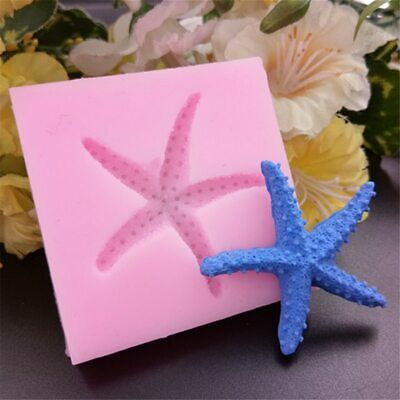 £3.67 • Buy SEA SHELL STARFISH 3D Silicone Fondant Cake Topper Mold Mould Chocolate Clam 3