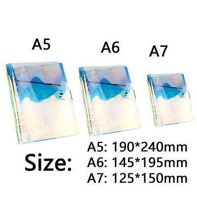 AU6.56 • Buy A5/A6/A7 Rainbow PVC Cover Loose Leaf Ring Binder File Folder With Button