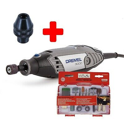 Dremel 3000 Hobby Rotary Tool Unit Only + Multi Chuck + 52pc General Purpose Set • 59£