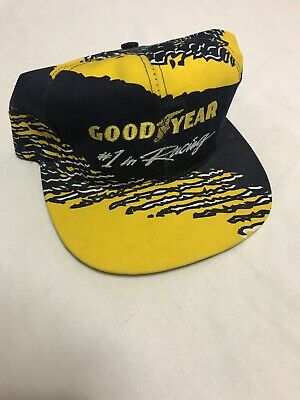 Vintage Swingster Goodyear Tires #1 In Racing Snapback Hat Blue Yellow • 17.99$