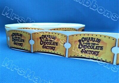 £1.59 • Buy Charlie And The Chocolate Factory Gold Ticket Satin Craft Ribbon @ MrsMario's