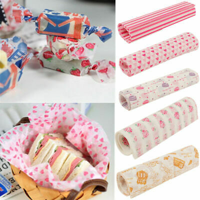 £5.99 • Buy 50X Food Wrapping Wax Paper Hambur Sandwich Bread Candy Wrap Paper Disposable