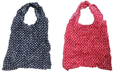 2 X Pocket Travel Bag For Life Reusable Shopping Grocery Foldable Carrier  • 3.75£