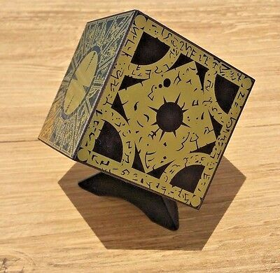 Hellraiser Puzzle Box Foil Face Cube Lament Configuration W/ Stand New Full Size • 41.16£