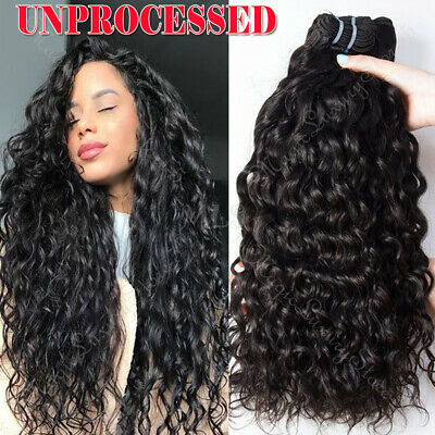 NEW Water Wave Malaysian Virgin Human Hair Extensions Weave Weft 100g Sew In UK • 26.50£