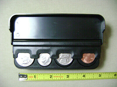 $14 • Buy Spring Loaded Black Coin Dispenser For Quarters, Dimes, Nickels, & Pennies (NEW)