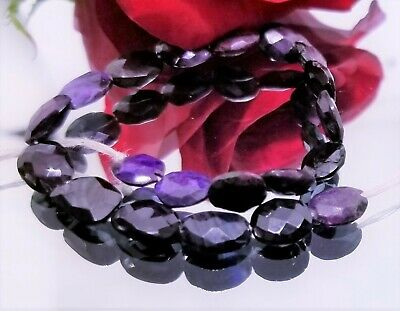 $59 • Buy RARE NATURAL FACETED PURPLE AFRICAN SUGILITE NUGGET BEADS 8-9mm 32.5cts 6.5