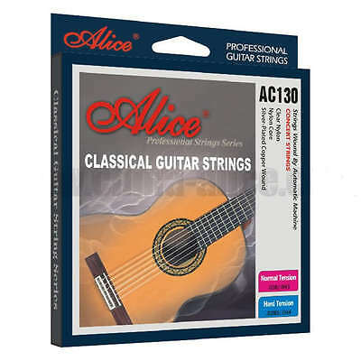$ CDN8.63 • Buy Alice Classical Guitar Strings Normal / High Tension Nylon Full Set Of 6 AC130N