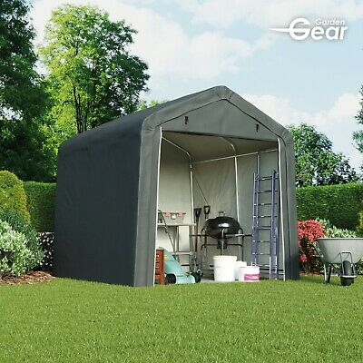 Garden Gear Apex Waterproof Shed 6x6 - 8x8ft Firewood Log Portable Car Storage • 184.99£
