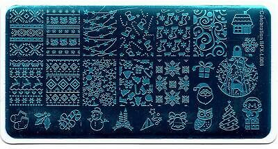 $6.99 • Buy Christmas Theme Nail Art Stamping Manicure DIY Template Image Plate BPX-L008