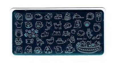 $6.99 • Buy Cat Design Nail Art Stamping DIY Manicure Template Image Plate L015