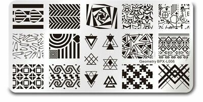$6.99 • Buy Geometry Theme Nail Art Stamping DIY Manicure Template Image Plate BPX-L006