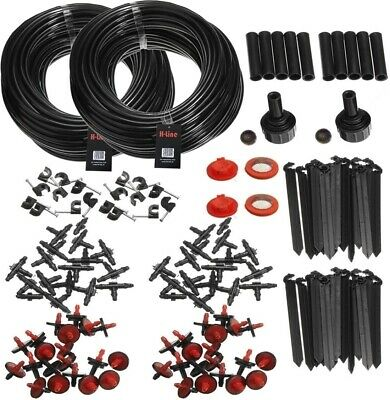 46m Micro Irrigation Watering Kit Automatic Garden Plant Greenhouse Drip System • 13.49£