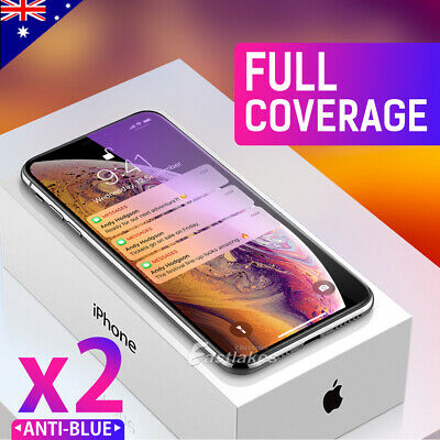 AU6.95 • Buy 2X IPhone 11 Pro XS Max XR X Full Cover Tempered Glass Screen Protector Apple