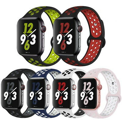 AU8.99 • Buy Sport Silicone Strap IWatch Band For Apple Watch Series 5 4 3 2 1 38mm 42 40 44