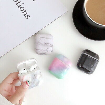 AU5.59 • Buy For Apple Airpods Earphone Protector Shockproof Marble Pattern Hard Case Cover
