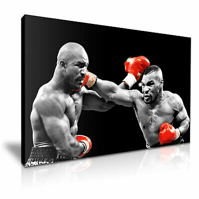 £12.99 • Buy Mike Tyson Vs Evander Holyfield Boxing Canvas Modern Home Art ~ 5 Size