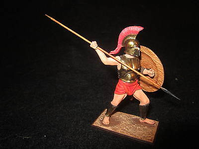 $74.99 • Buy St. Petersburg. Amber. Greek Attacking W/Long Spear & Shield. 54mm.