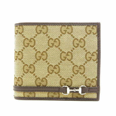 $335.73 • Buy GUCCI  245773 Bifold Wallet With Coin Pocket GG Pattern Canvas