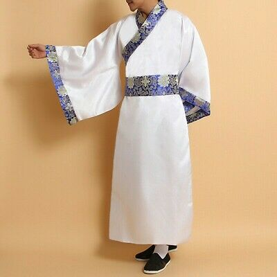 £21.50 • Buy Mens Chinese Ancient Hanfu Asian Traditional Clothing Dress Robe Gown Tang Retro