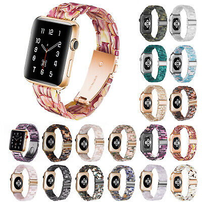 $ CDN21.17 • Buy Resin Band For Apple Watch Series 6 5 4 3 Strap Stainless Steel Buckle Bracelet