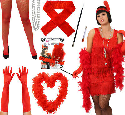 £3.99 • Buy 1920s Red Flapper Fancy Dress Accessories Charleston Accessory Lot Choose Item