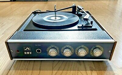 Rare Vintage HMV Model 2025 Record Player BSR Deck Teak Case • 89£