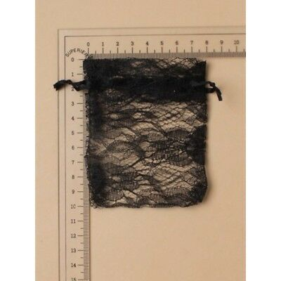 NEW 12 Black Lace Favour Bags Wedding Party Confectionary 10x7.5cm • 2.99£
