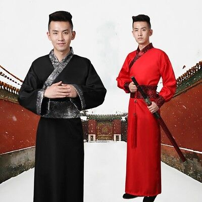 £15.11 • Buy Mens Hanfu Costume Chinese Ancient Knights Swordman Outfit Tang Dynasty Cosplay