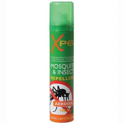 Xpel Mosquito & Insect Repellent Aerosol Spray 100ml Biting Midges Long Lasting • 5.39£