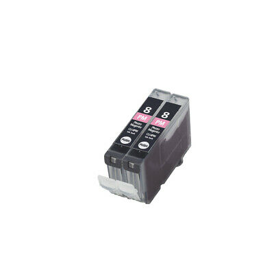 £4.78 • Buy 2 Photo Magenta Ink Cartridge For Canon Pixma MP970 Pro 9000 IP6700D CLI8PM