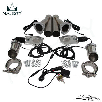 $210.38 • Buy 2.5  Dual Exhaust Catback Downpipe Cutout E-Cut Valve System Switch Control Kit