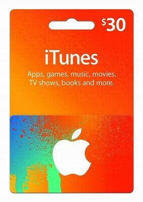 AU30 • Buy $30 ITunes Gift Card
