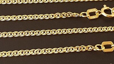 $117 • Buy 14 K Solid Yellow Gold 1.8 Mm Nonna Chain Necklace  16 , 18 , 20 , 22 , 24 .