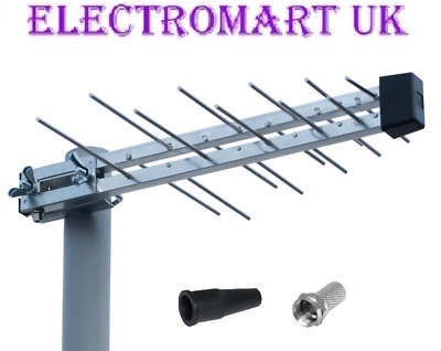 Digital 20 Element Hd Freeview Tv Aerial 4g Filter Loft Outdoor Caravan Camping • 14.90£