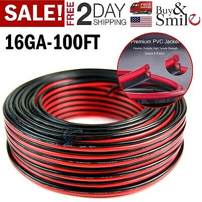 100FT 16-2 AWG Gauge Electrical Copper Wire Low Voltage Landscape Lighting Audio • 19.99$