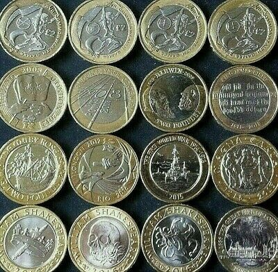 Rare Two £2 Pound Coin UK Coins Olympics Commonwealth NI Navy Bible Mary Rose • 8.49£